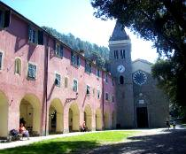 The Sanctuary of Our Lady of Soviore in Monterosso