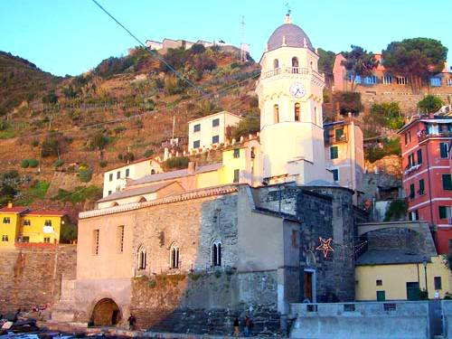 The church of Santa Margherita and the rocks